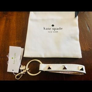 NWT Kate Spade Leather Stud Key Fob